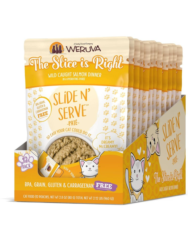 Weruva WERUVA Cat Slide N Serve Pouch Pate The Slice is Right 12/Tray
