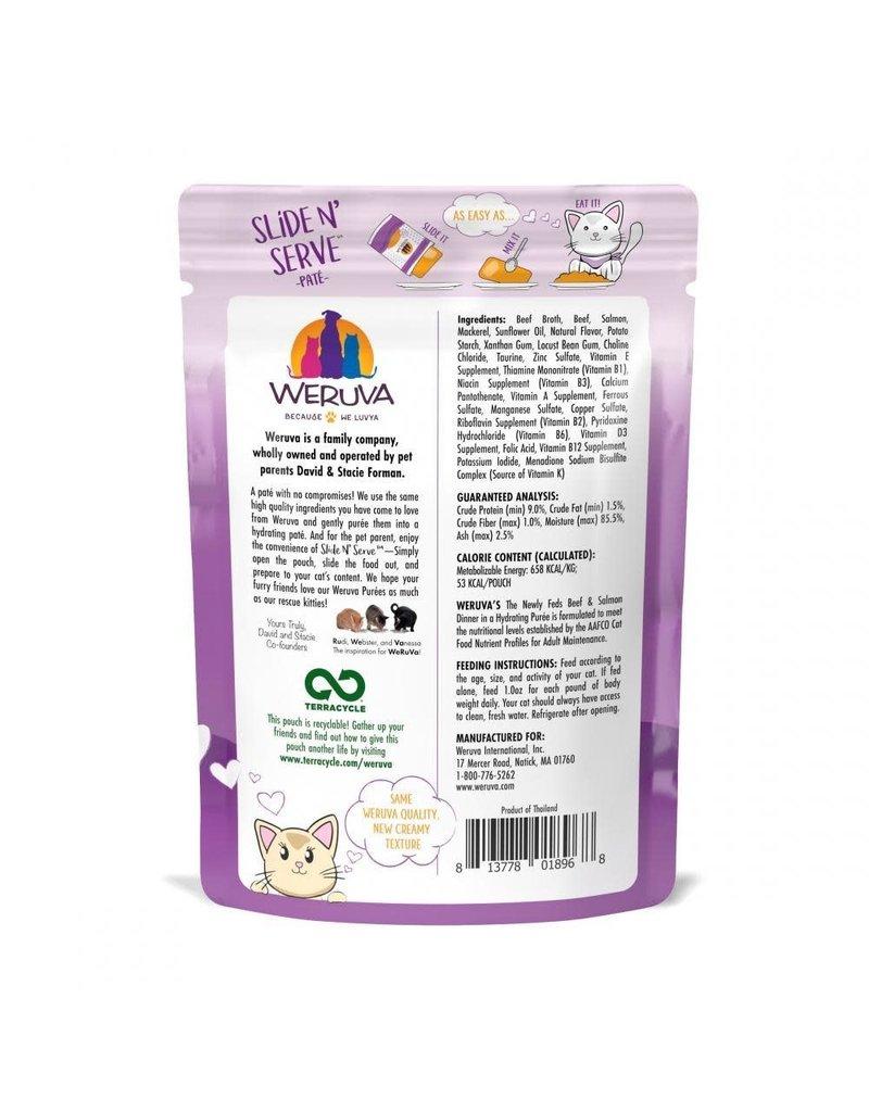Weruva WERUVA Cat Slide N Serve Pouch Pate Newly Feds 12/Tray