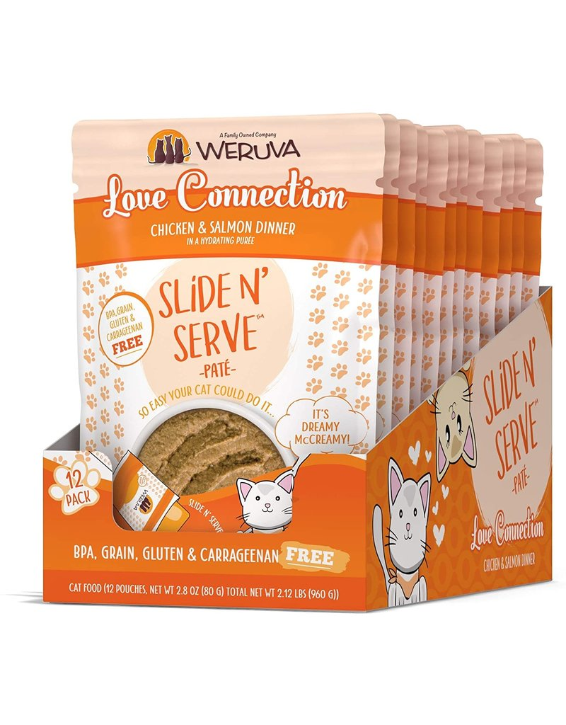 Weruva WERUVA Cat Slide N Serve Pouch Pate Love Connection 12/Tray