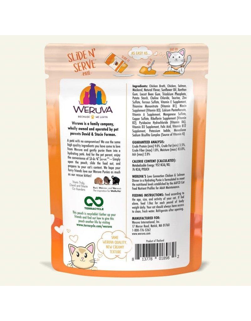 Weruva WERUVA Cat Slide N Serve Pouch Pate Love Connection 12/Tray