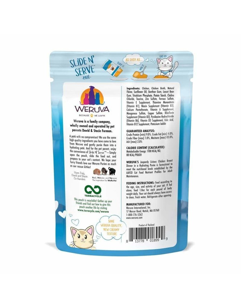 Weruva WERUVA Cat Slide N Serve Pouch Pate Jeopurrdy Licious 12/Tray