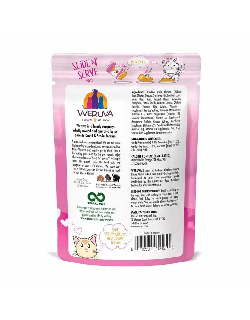 Weruva WERUVA Cat Slide N Serve Pouch Pate Meal of Fortune 12/Tray