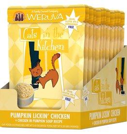 Weruva Cats in the Kitchen WERUVA Cats in the Kitchen Pumpkin Lickin' Chicken Grain-Free Cat Food Pouch Case 12/3 oz.