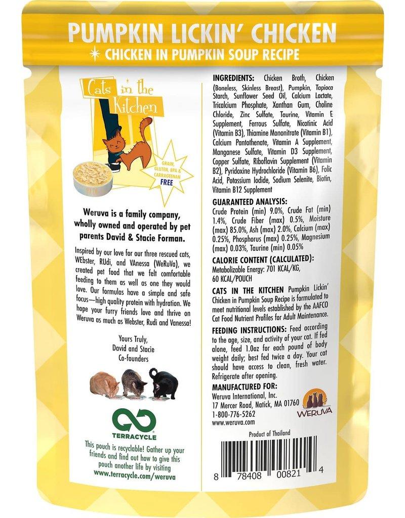Weruva CITK Pumpkin Lickin' Chicken Grain-Free Cat Food Pouch Case 12/3 oz.