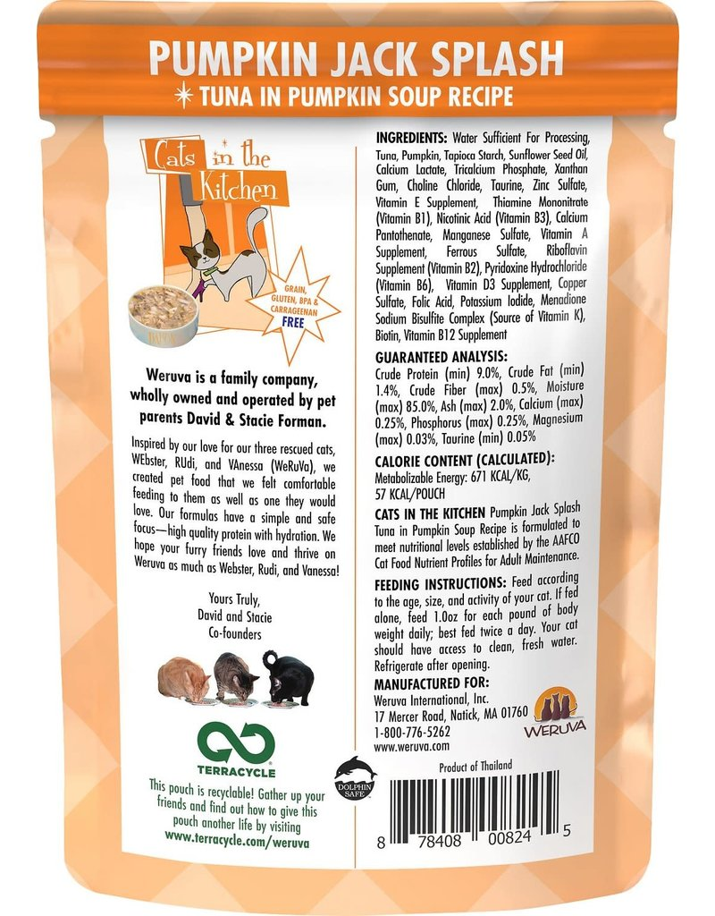 Weruva Cats in the Kitchen WERUVA Cats in the Kitchen Pumpkin Jack Splash Grain-Free Cat Food Pouch 3 oz. Pumpkin Jack Splash Grain-Free Cat Food Pouch Case 12/3 oz.