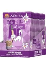 Weruva Cats in the Kitchen WERUVA Cats in the Kitchen Love Me Tender Grain-Free Cat Food Pouch Case 12/3 oz.