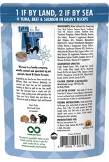 Weruva Cats in the Kitchen WERUVA Cats in the Kitchen 1 if by Land, 2 if by Sea Grain-Free Cat Food Pouch Case 12/3 oz.