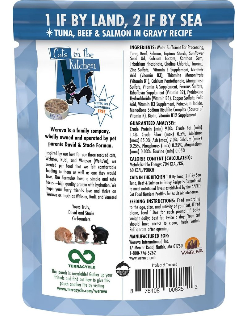 Weruva CITK 1 if by Land, 2 if by Sea Grain-Free Cat Food Pouch Case 12/3 oz.