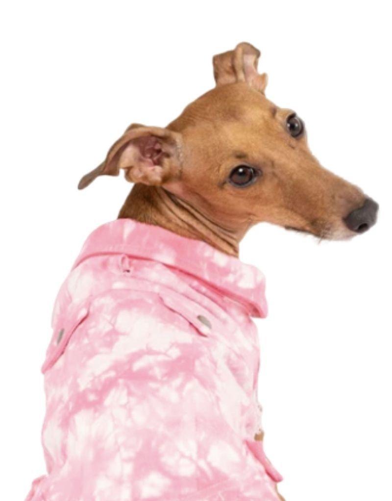 CANADA POOCH CANADA POOCH Downtown Denim Vest Pink Tie-Dye