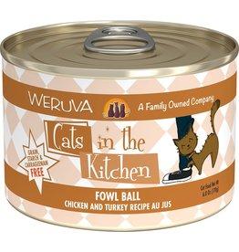 Weruva WERUVA Cats in the Kitchen Fowl Ball Grain-Free Canned Cat Food Case
