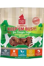 Plato Pet Treats PLATO Keep Em Busy Dog Treats Chicken & Apple 5oz
