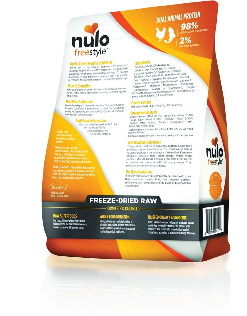 NULO NULO Freestyle Chicken & Salmon Freezedried Cat Food