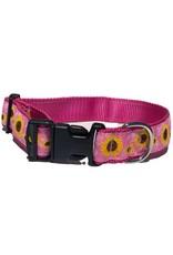 Preston PRESTON Pink Sunflowers Dog Collar