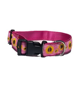 Preston PRESTON Pink Sunflowers Dog Collar