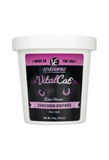 Vital Essentials VITAL ESSENTIALS Chicken Frozen Raw Cat Food Tub 14oz