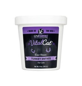 Vital Essentials VITAL ESSENTIALS Turkey Frozen Raw Cat Food Tub 14oz