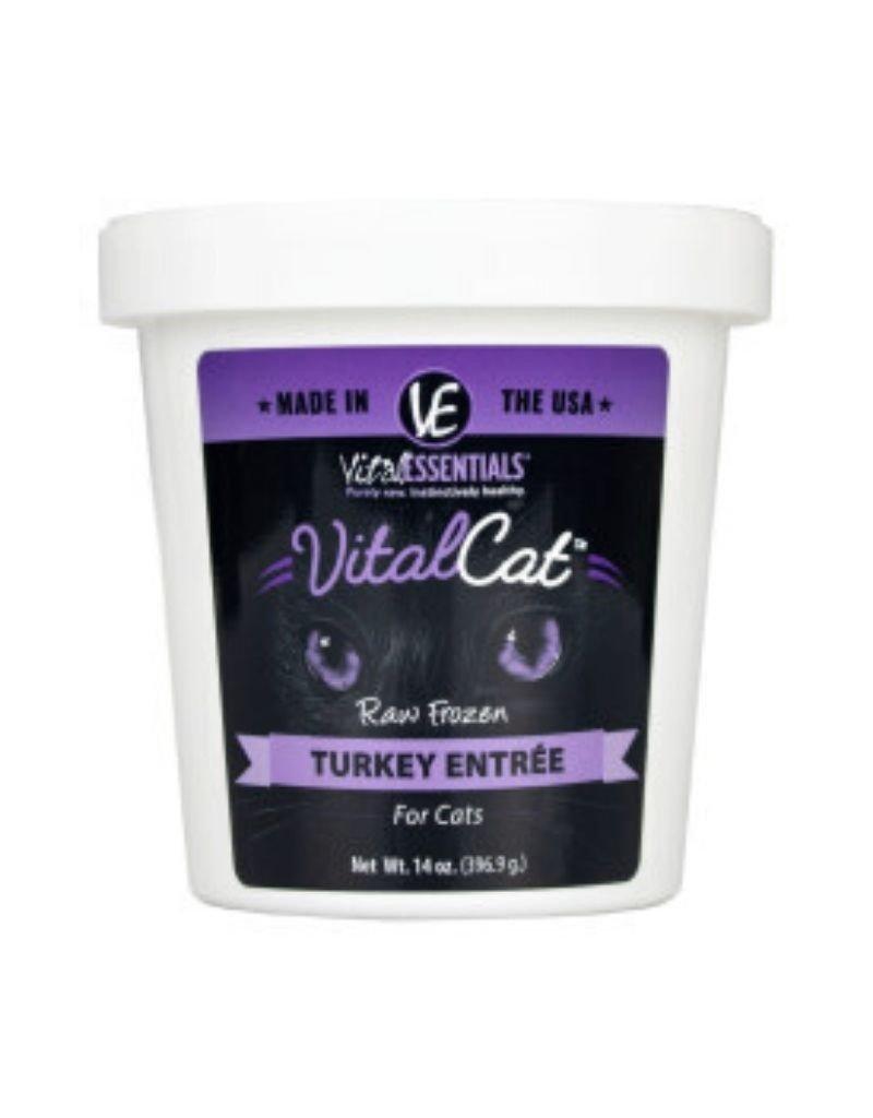 Vital Essentials VITAL ESSENTIALS Turkey Frozen Raw Cat Food Tub 14oz