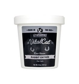 Vital Essentials VITAL ESSENTIALS Rabbit Frozen Raw Cat Food Tub 14oz
