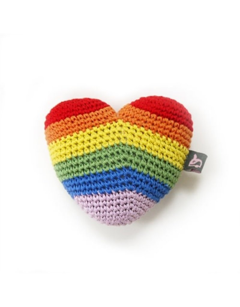 Dogo PAWER SQUEAKY Rainbow Heart Toy