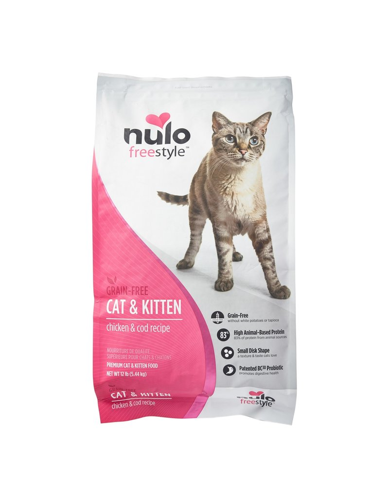 NULO NULO Freestyle Chicken & Cod Dry Cat Food  12 lb.