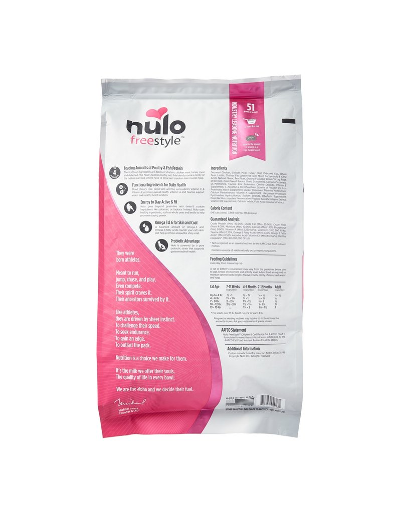 NULO NULO Freestyle Chicken & Cod Dry Cat Food  12 lb.