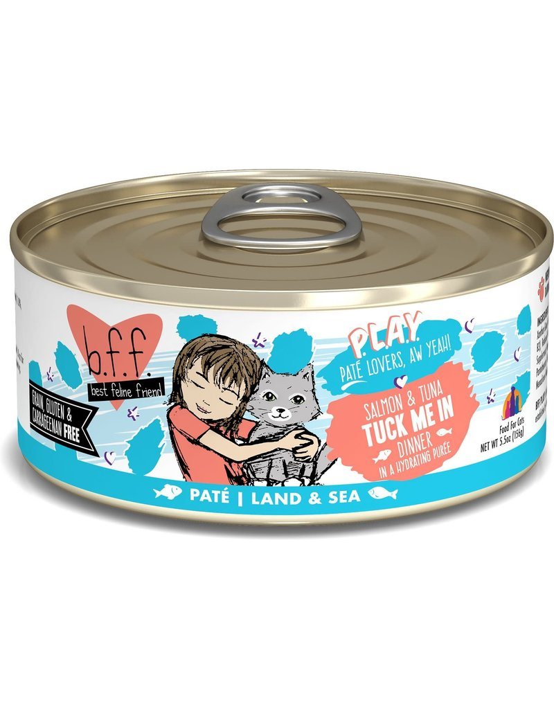 Weruva BFF PLAY Salmon and Tuna Tuck Me In Canned Cat Food Case