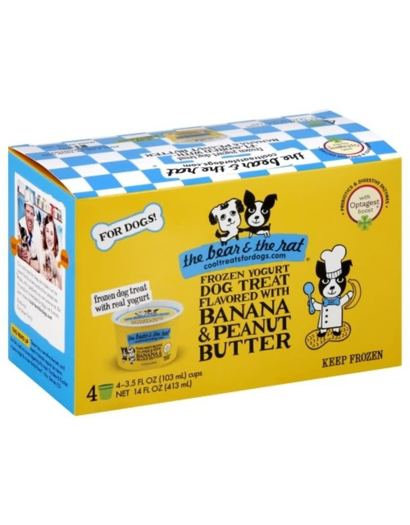 BEAR & RAT THE BEAR & THE RAT Frozen Yogurt Dog Treat Banana Peanut Butter 4/pk