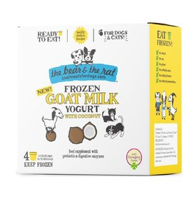 BEAR & RAT THE BEAR & THE RAT Frozen Goat Milk with Coconut Dog Treat 4/pk