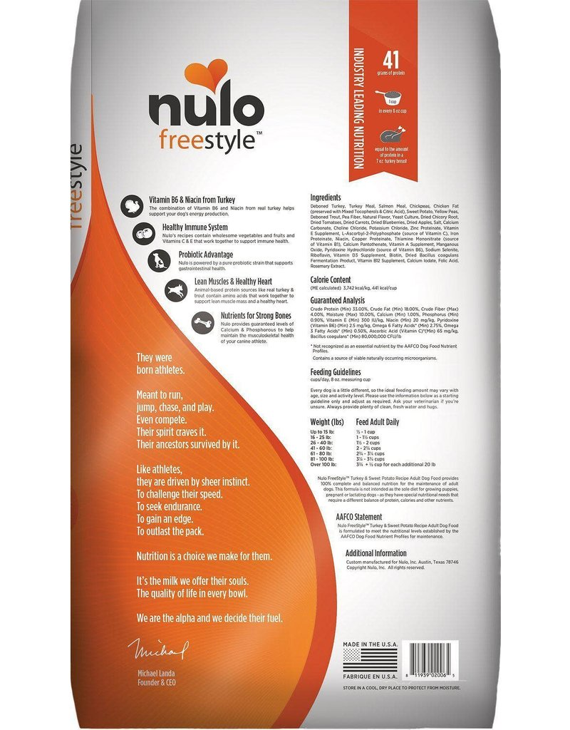 NULO NULO Freestyle Grain Free Turkey & Sweet Potato Dry Dog Food