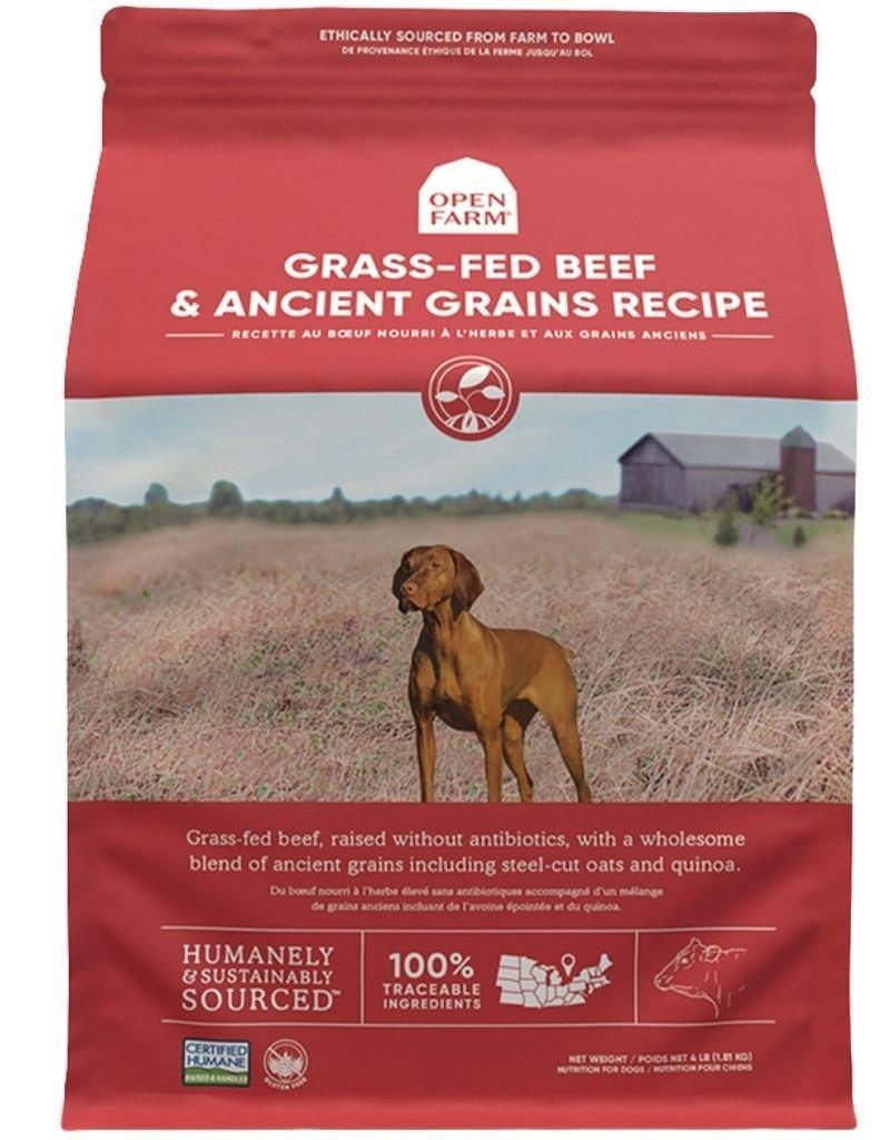 Open Farm OPEN FARM Ancient Grains Grass Fed Beef Dry Dog Food