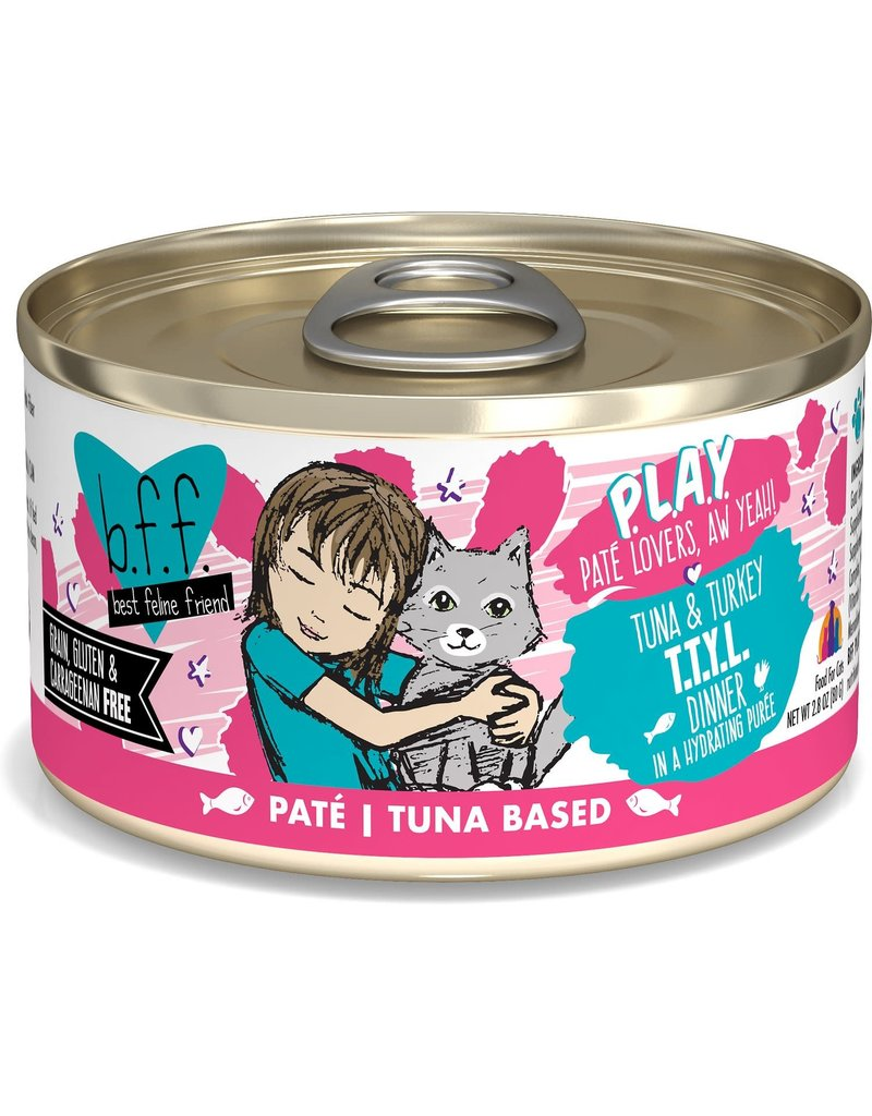 BFF BFF Play Talk to Ya Later Tuna Canned Cat Food 2.8OZ CASE/12