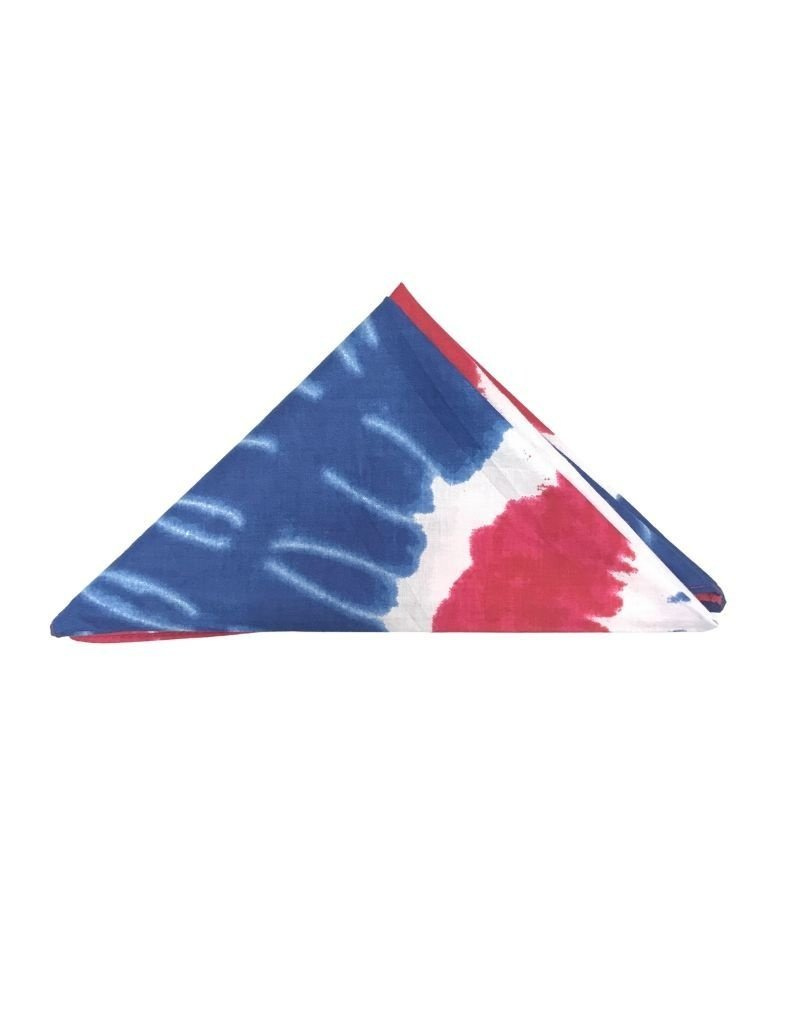 Carolina Manufacturing Novelty Bandana Patriotic Swirl Tie Dye