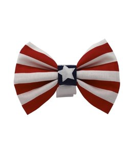 CHLOE & MAX CHLOE & MAX Bow Tie Stars & Stripes Red