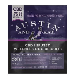 AUSTIN & KAT AUSTIN & KAT Classic Full Spectrum CBD Biscuits for Dogs 5mg