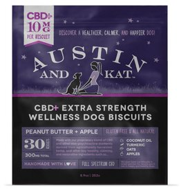 AUSTIN & KAT AUSTIN & KAT Classic Full Spectrum CBD Biscuits for Dogs 10mg