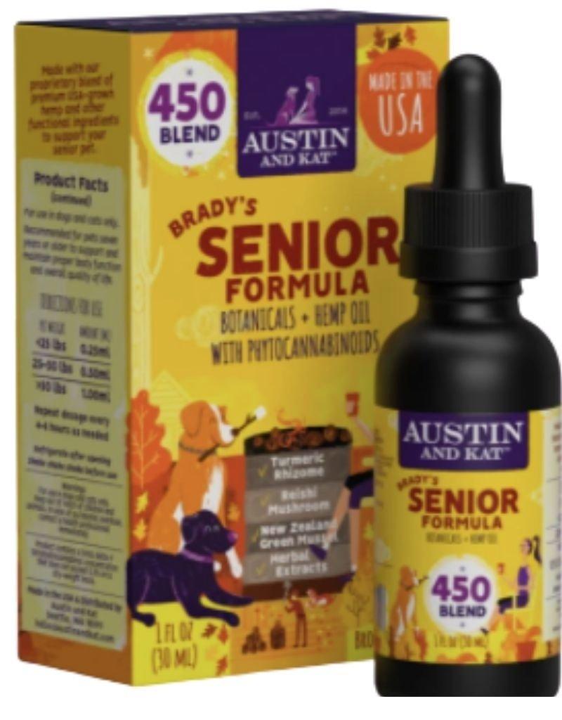 AUSTIN & KAT AUSTIN & KAT Brady's Senior Formula Functional Broad Spectrum CBD Oil 450mg