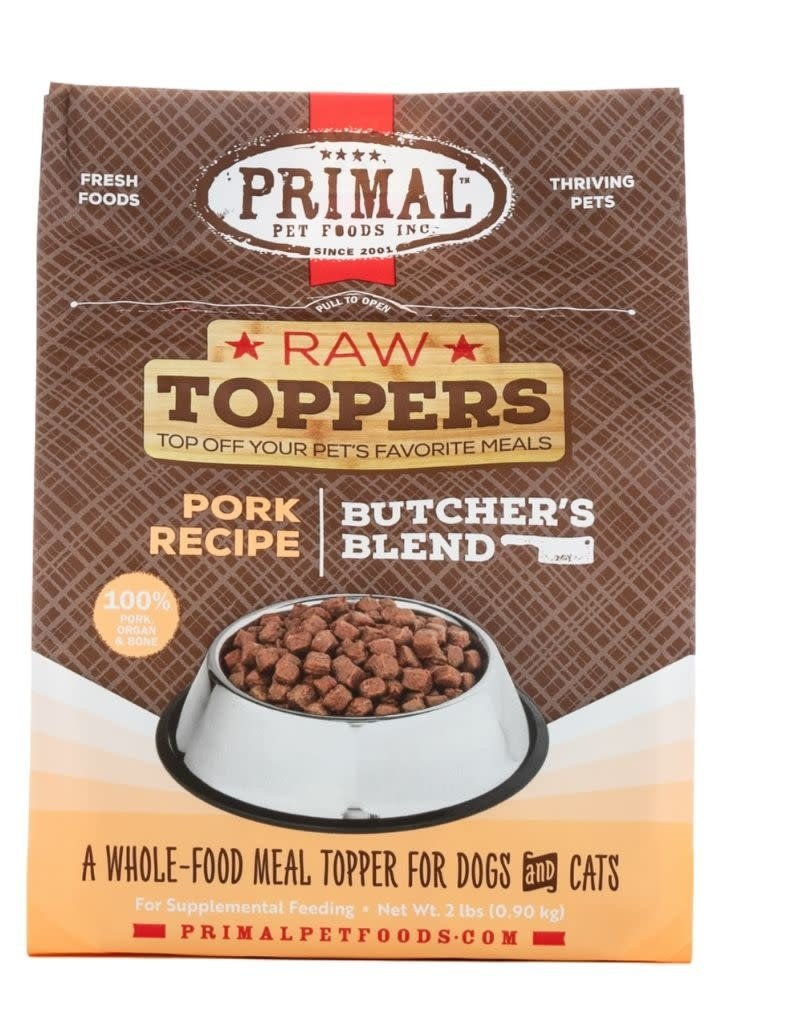 Primal Pet Foods PRIMAL Raw Toppers Butcher's Blend Pork Recipe 2lb