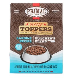Primal Pet Foods PRIMAL Raw Toppers Butcher's Blend Sardine Recipe 2lb