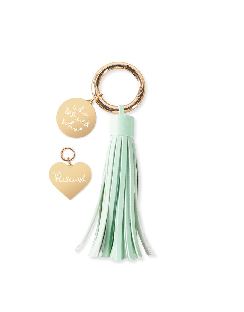 Fringe Studio FRINGE Who Rescued Who Collar Charm & Tassle Key Chain Set