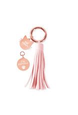 Fringe Studio FRINGE Crazy Cat Lady Collar Charm & Tassle Key Chain Set