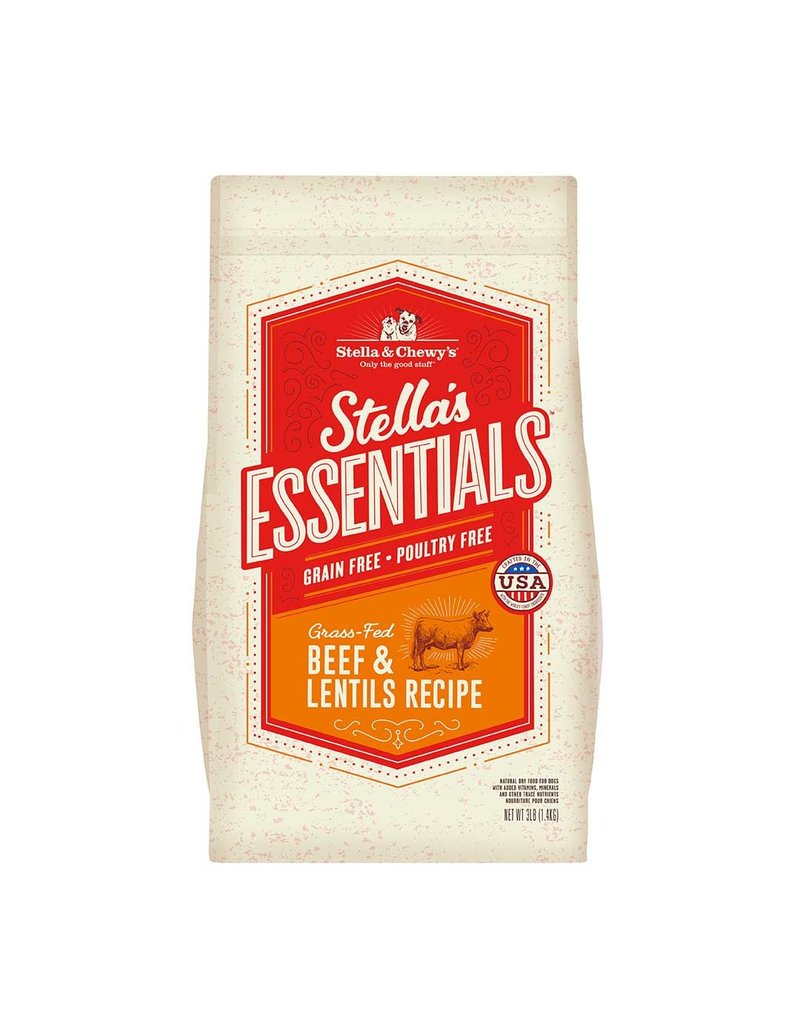Stella & Chewys STELLA & CHEWY'S Essentials Grain-Free Grass-Fed Beef & Lentils Dry Dog Food