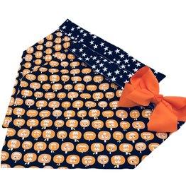 CHLOE & MAX CHLOE & MAX Reversible Pumpkins & Stars Bandana