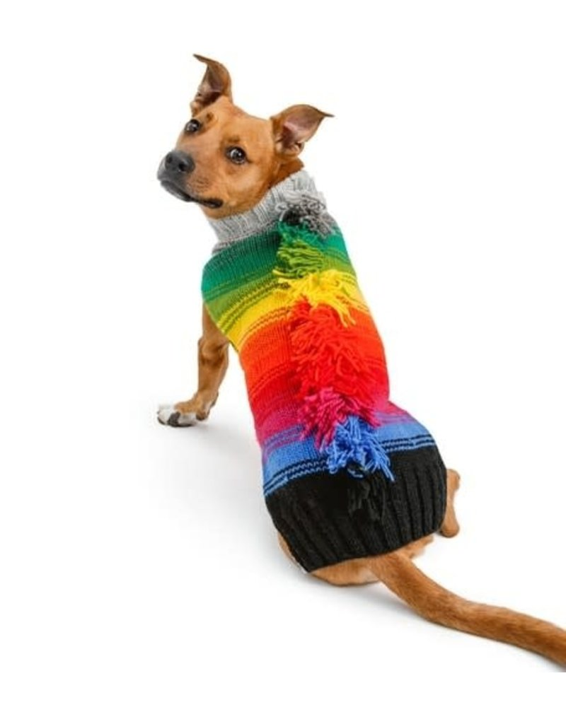Chilly Dog Sweaters CHILLY DOG Rainbow Mohawk Dog Sweater