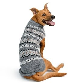 Chilly Dog Sweaters CHILLY DOG Silver Alpaca Dog Sweater
