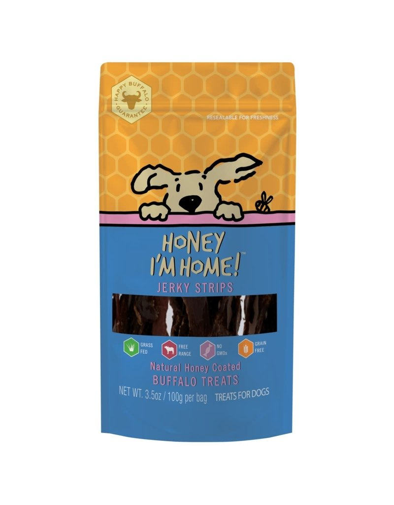 Honey I'm Home HONEY I'M HOME Buffalo Jerky Strips Dog Treat 3.5 oz.