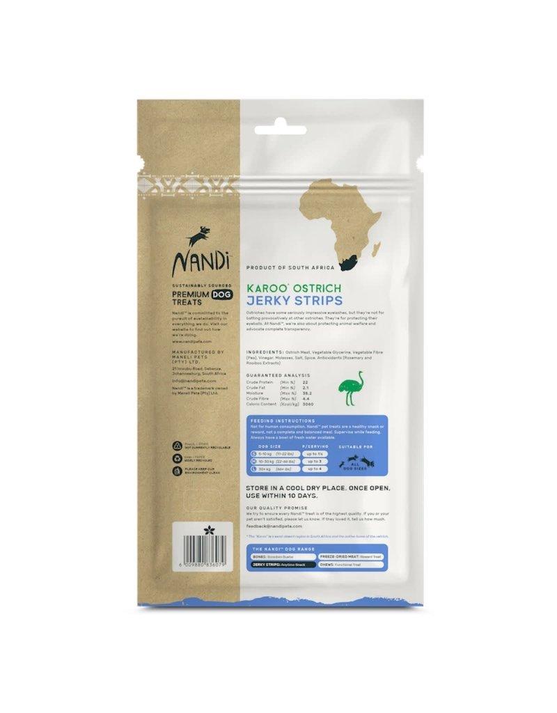 NANDI PETS NANDI PETS Karoo Ostrich Jerky Strips 5.3oz