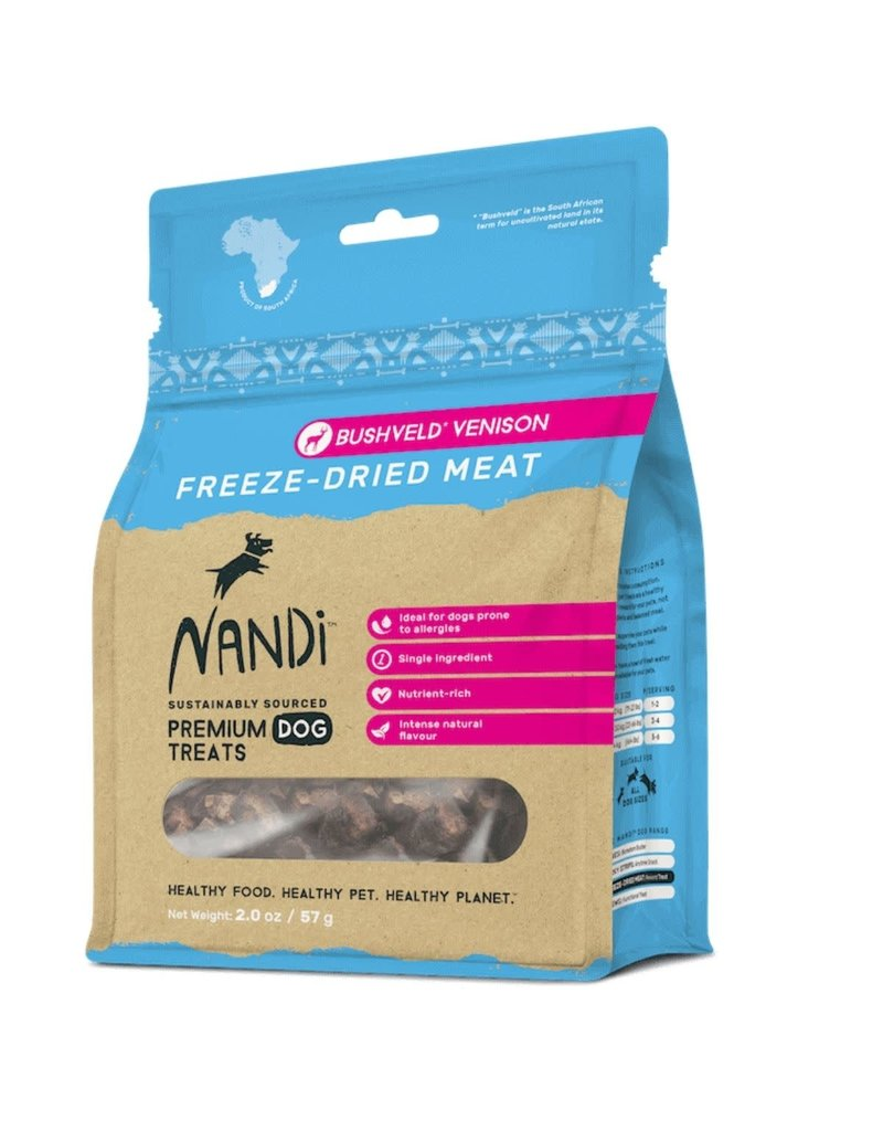 NANDI PETS NANDI PETS Freeze-dried Venison Treats 2oz