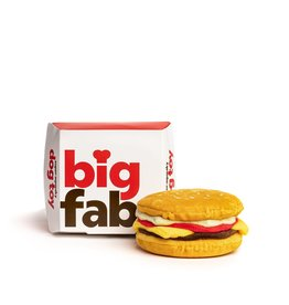 FabDog FAB DOG Cheeseburger Super-Squeaker Toy