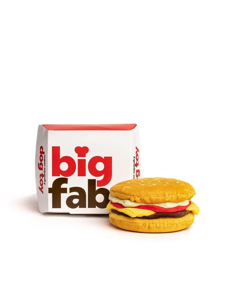Fab Dog FAB DOG Cheeseburger Super-Squeaker Toy
