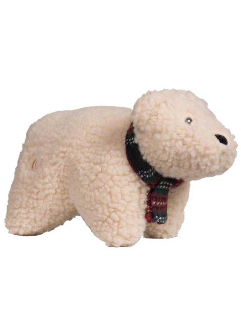 Hugglehounds HUGGLEHOUNDS Squooshie Polar Bear Dog Toy